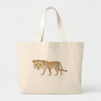 Gentle Cheetah Large Tote Bag