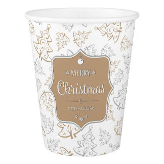 Gentle Christmas Trees Paper Cup