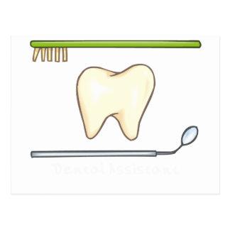 Gentle Dental- tooth mirror brush Postcard