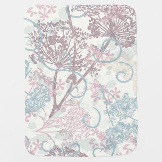 Gentle design with field plants baby blanket
