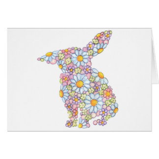 Gentle Floppy-Eared Bunny Greeting Card