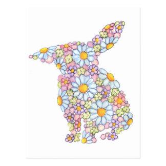Gentle Floppy-Eared Bunny Postcard