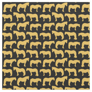 Gentle Giants (customisable horse colour) Fabric
