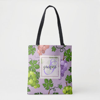 Gentle Grapes and Grapevines Tote Bag