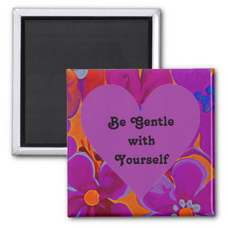 gentle heart square magnet