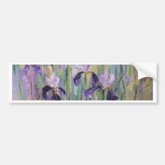 Gentle irises bumper sticker