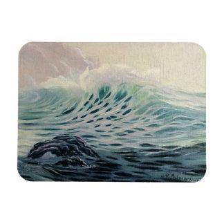 Gentle Ocean Waves Rectangular Photo Magnet