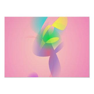 Gentle Pink 13 Cm X 18 Cm Invitation Card