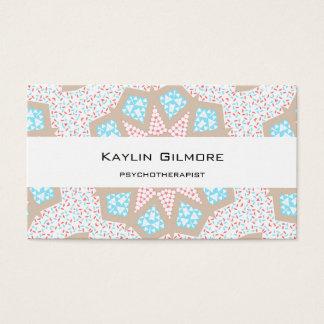 Gentle Pink & Blue Kaleidoscope Business Card