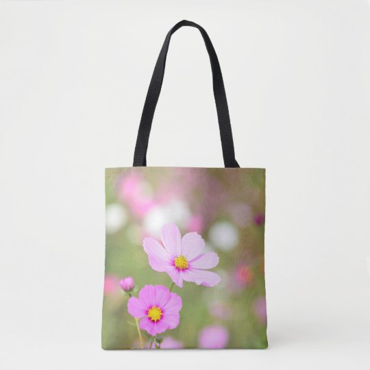 Gentle Pink Flower All-Over Printed Tote Bag