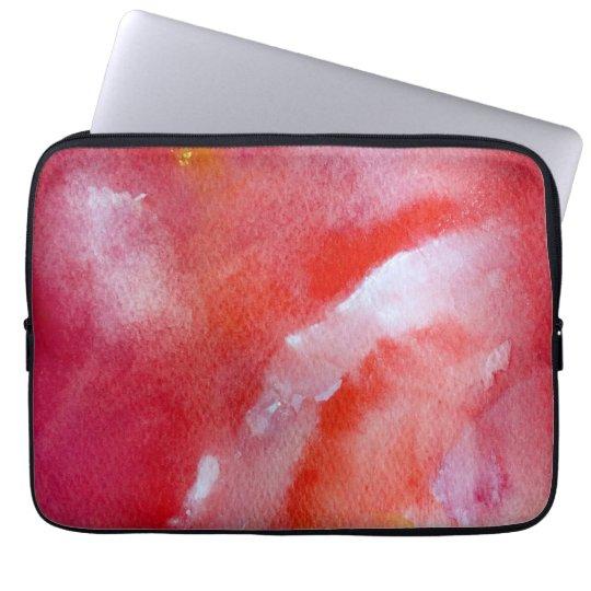 "Gentle Pink Overflow Neoprene Laptop Sleeve 13"""