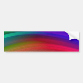 Gentle Rainbow Waves Abstract Bumper Sticker