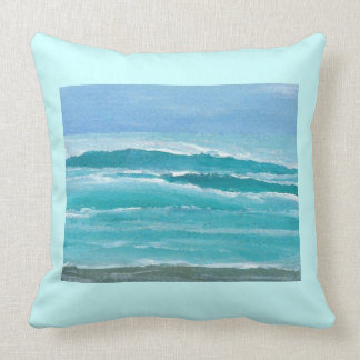 Gentle Surf Ocean Waves Beach Decor Pillow 1