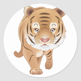Gentle Tiger Classic Round Sticker