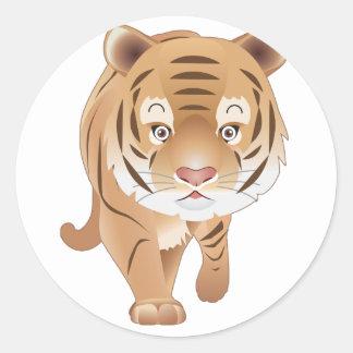 Gentle Tiger Classic Round Sticker