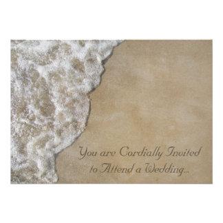 Gentle Wave on Beach Wedding Invitation