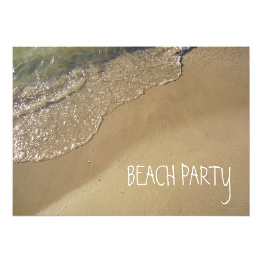 Gentle Waves Beach Ocean Lake Michigan Personalized Invites