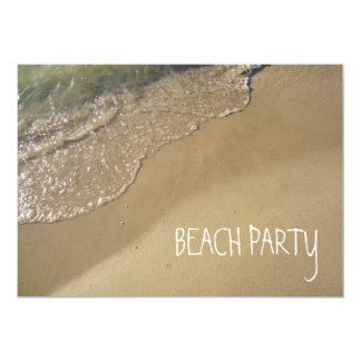 Gentle Waves Beach Ocean Lake Michigan Personalized Invites