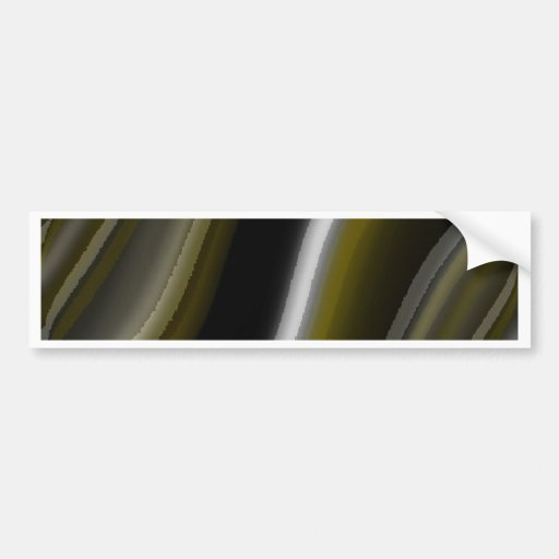 gentle waves brown gold astract bumper stickers