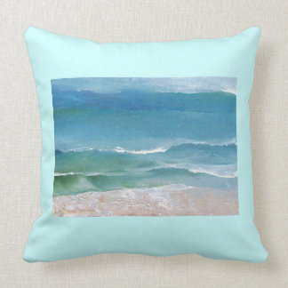 Gentle Waves Ocean Waves Beach Decor Pillow 3