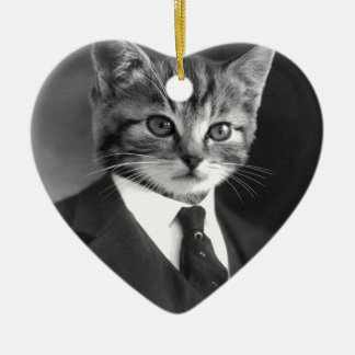 Gentleman Cat #1 Christmas Ornament