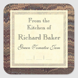 Gentleman Chef's Elegant Marble Canning Labels Sticker