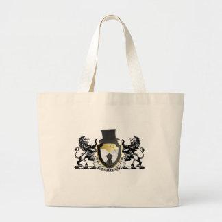 Gentleman Crest Tote Bags
