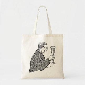 Gentleman Drinking Beer Vintage Illustration