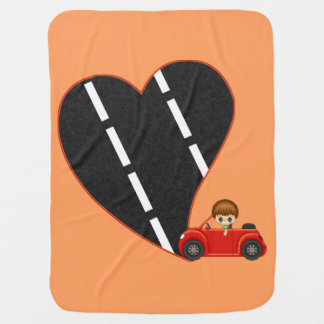 Gentleman Driver Red Car Road to Love Buggy Blanket