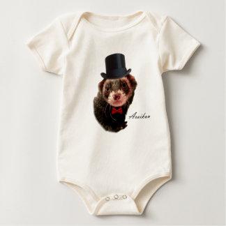 Gentleman ferret baby bodysuit