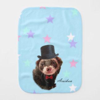 Gentleman ferret burp cloth