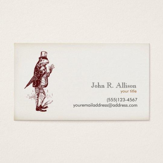 Gentleman Frog Calling Card