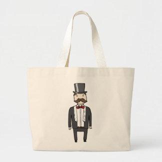 Gentleman in suit jumbo tote bag