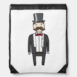 Gentleman in suit rucksacks