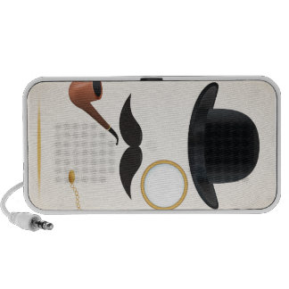 Gentleman Moustache Must-Dash Monacle & Bowler Hat Speaker System