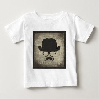 Gentleman Must-Dash Moustache Bowler Hat Baby T-Shirt