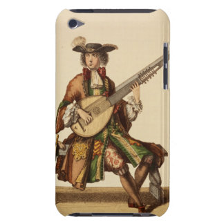 Gentleman Playing the Angelica, fashion plate, c.1 iPod Case-Mate Cases