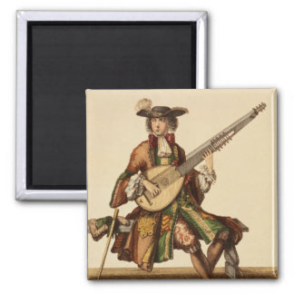 Gentleman Playing the Angelica, fashion plate, c.1 Magnet