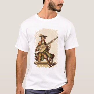 Gentleman Playing the Angelica, fashion plate, c.1 T-Shirt