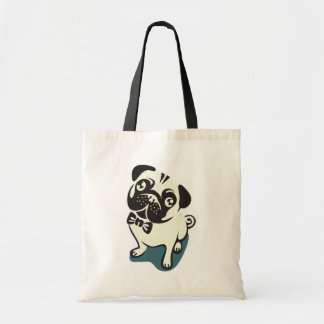 Gentleman Pug with a Cute Bowtie. Tote Bag