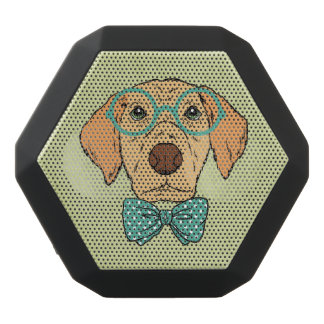 Gentleman Puppy with a Cute Bowtie. Black Bluetooth Speaker