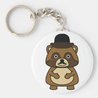 Gentleman Racoon Key Ring