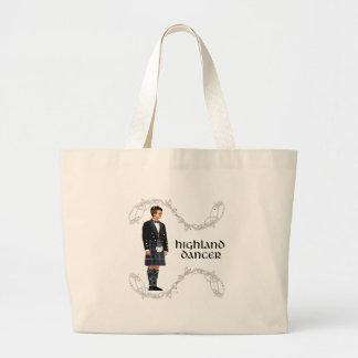 Gentleman Scottish Highland Dancer Large Tote Bag