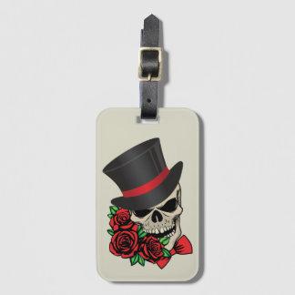 Gentleman Skull Luggage Tag