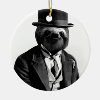 Gentleman Sloth #2 Christmas Ornament
