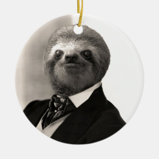 Gentleman Sloth #4 Christmas Ornament