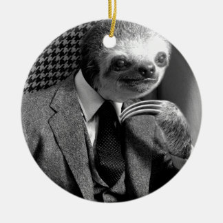 Gentleman Sloth 6 Christmas Ornament