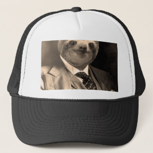 86d6d71b3a8 Gentleman Sloth 7  Trucker Hat