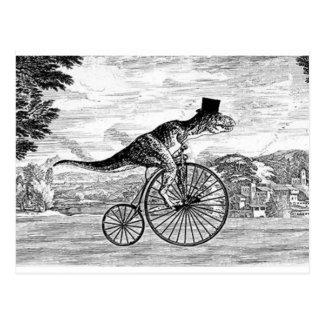 Gentleman T-Rex s Sunday Ride Postcard