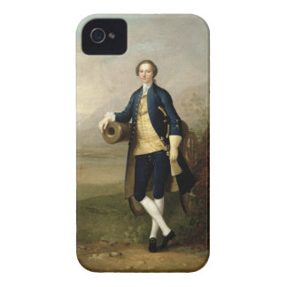 Gentleman with a Cannon, 1741 (oil on canvas) iPhone 4 Cover